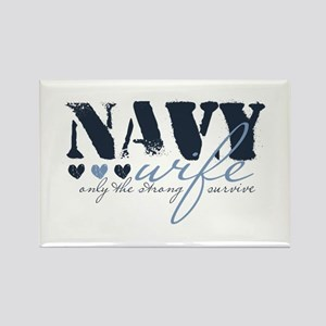 Navy Wife ... [blue] Rectangle Magnet